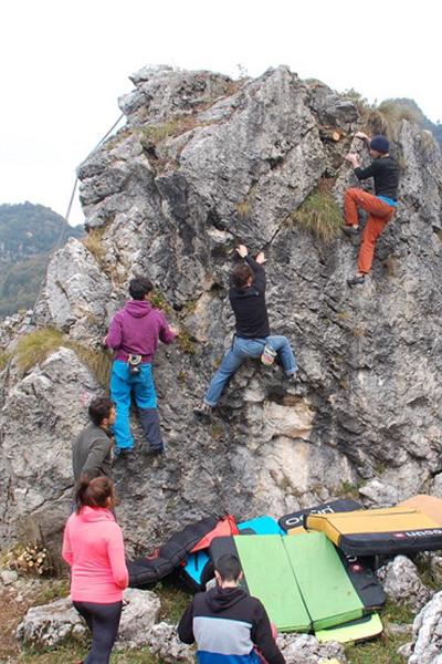 Boulder e arrampicata